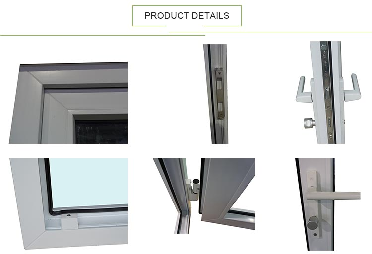 AS2047 Exterior Price UPVC Manufacture Commercial Swing French Glass Door Wholesale