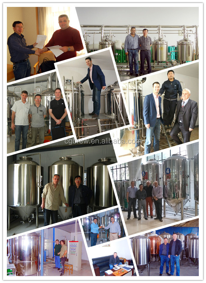 client visiting beer equipment
