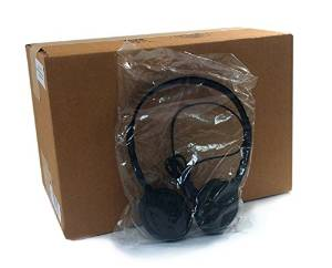 Encore ENC-313 Classroom Stereo Bulk Headphones with Leatherette Earpads - 25 Pack