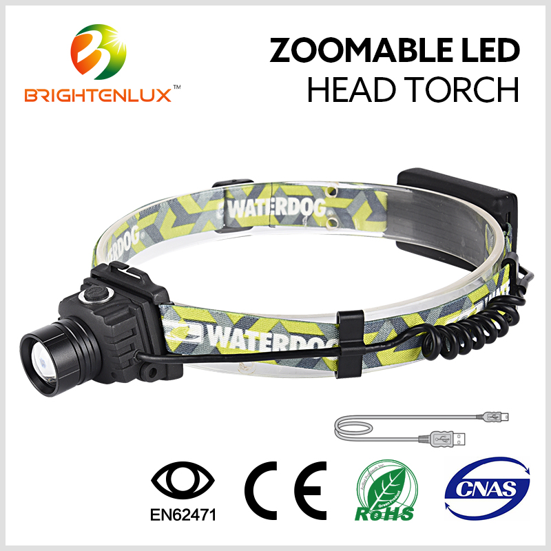 Hight Quality Zoom Focus LED Headlamp USB Charge Zoomable Led Head Torch