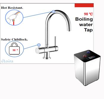 Elektrischer Sofortiger Heißer Wasserhahn Elektrischer Wasserhahn Küchen  Warmwasserbereiterhahn