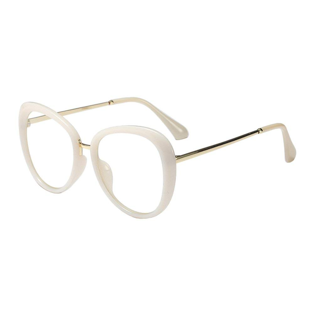 1d56517aa9f6 Get Quotations · Xinvision Metal Oval Frame Vintage Clear Lens Glasses Thick  Frame Spectacles