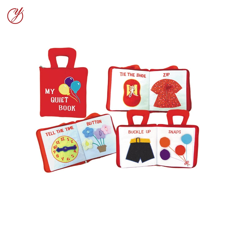 Wholesale educational toys soft felt fabric baby memory book