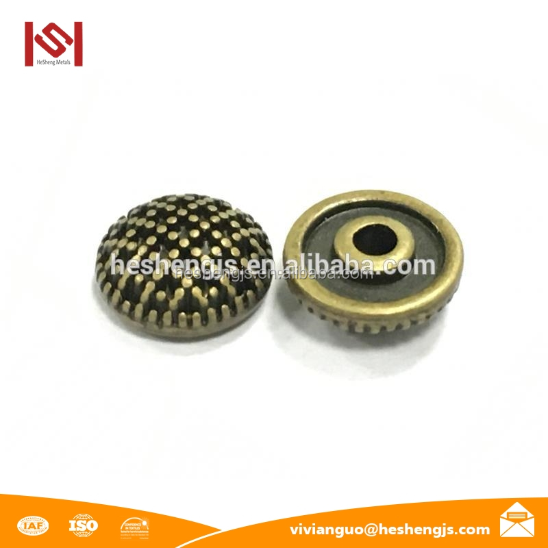 Fine Polishing Hot Press Stud Noble Rivet with custom brand logo