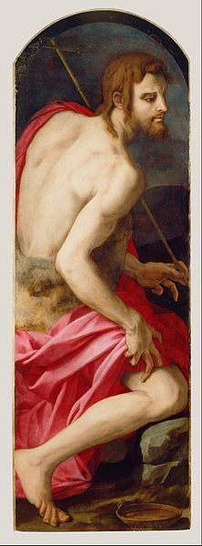 Canvas Art Prints Fabric Wall <font><b>Decor</b></font> Giclee Oil Painting Agnolo Bronzino (<font><b>italian</b></font> - St. John The Baptist