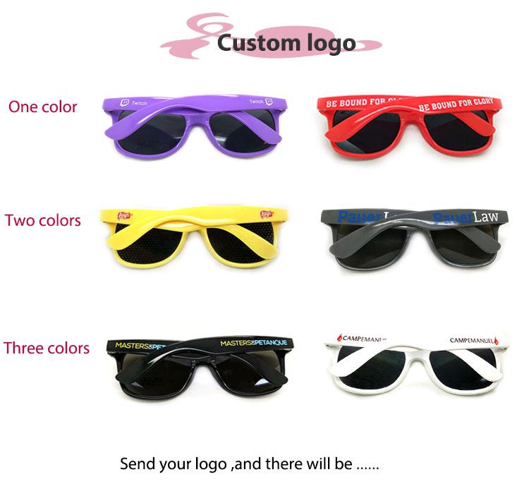 Free sample 2019 OEM plastic UV400 custom logo sunglasses