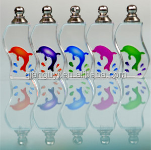 Made In China Unique Fashion alibaba jewelry bright-coloured crystal S shape dolphin pendant OEM crystal rice pendant