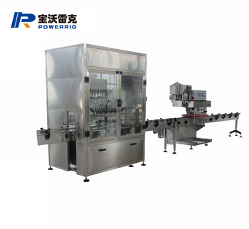 Toilet cleaner gravity flow filling machine