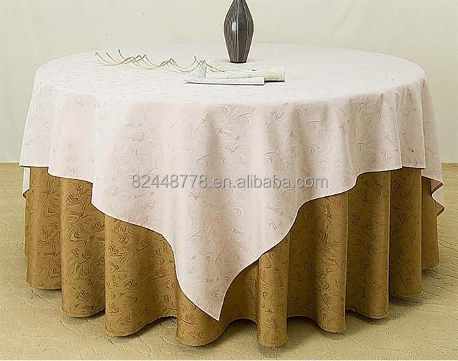 Luxurioushighend five star hotel round cotton table cloth