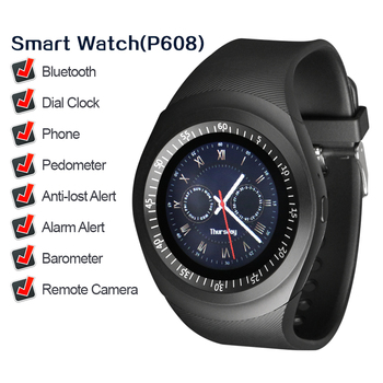 P608 Simple charm men's gift watch fashion black health sports smart watch