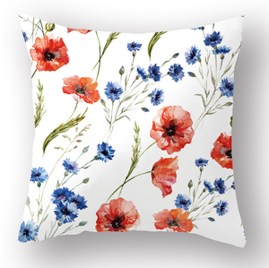 digital printed green plant cushions printing cushion with leaf pillows