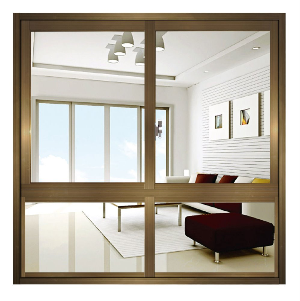 Aluminum Windows Product : Flat water insulation aluminum tracks sliding window