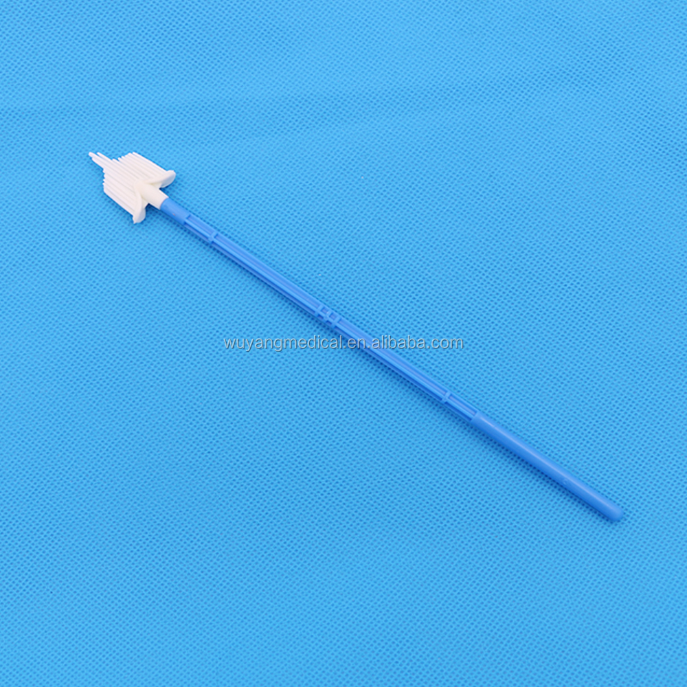 Disposable medical CE ISO approved cheap cervical brush various types cytology brush