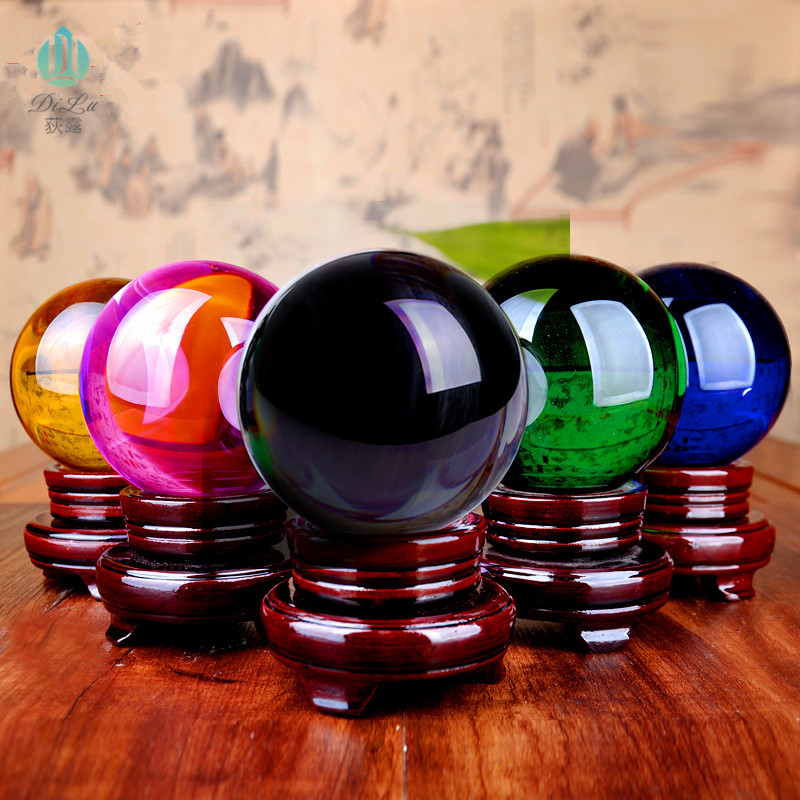 Wholesale Decorative 60MM 80MM 100MM Magic K9 Crystal Glass Ball for Home Decorations