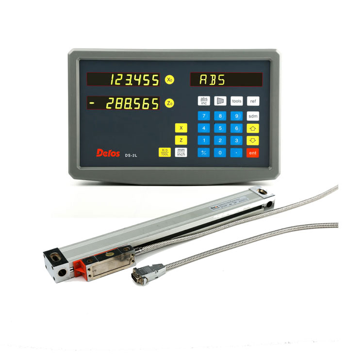 free sample metal digital display meter with optical linear scale for milling lathe machine