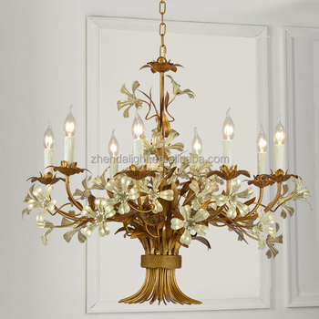 Nice gilded flower bouquet small wrought iron chandelier buy nice nice gilded flower bouquet small wrought iron chandelier aloadofball Images