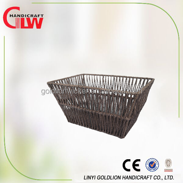 Taper Rectangle Seagrass Storage Basket Wholesale