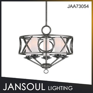 JANSOUL black metal popular wrought iron chandelier for european market