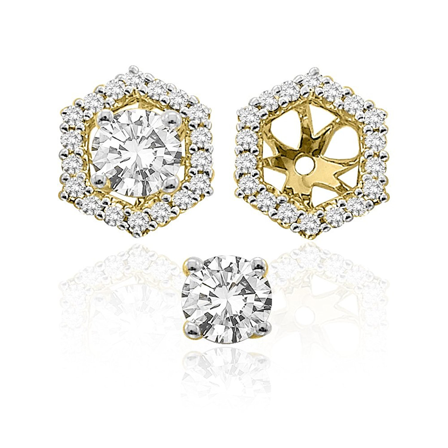 Earring Jackets Yellow Gold Find