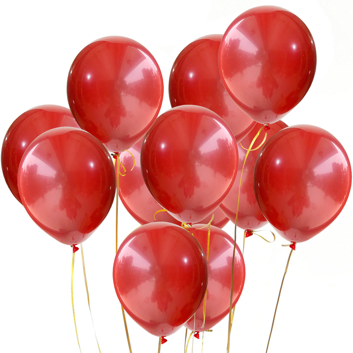 Yiwu Latex Balloon Globos Birthday Decoration Double Layer Red  Round Shape And Confetti Latex Balloon For Party Decoration