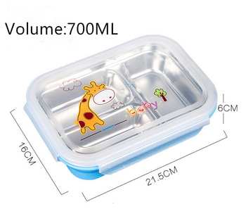 New Brand Custom Logo Stainless Steel Lunch Bento Box With Good Quality 6fbc651f1b46