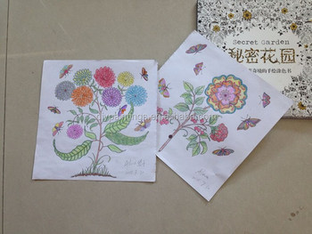2016 New Arrive Hand Painted Secret Garden Coloring Book Children
