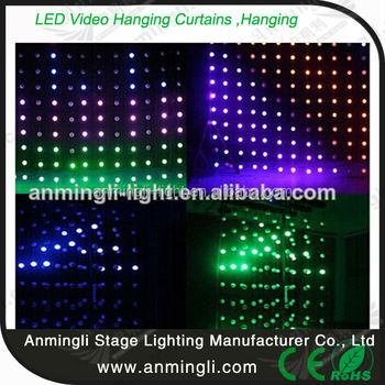 Removable Stage Led Light Curtain Wall For Dj Backdrop Decoration ...