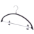 Premium soft rubber coating Metal Hanger with metal clips for trousers