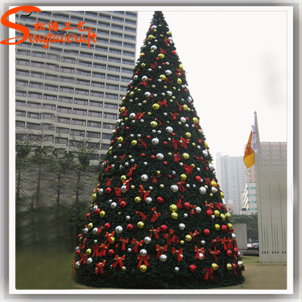 large led artificial giant christmas tree stand fiber optic snowing christmas tree for sale - Large Christmas Tree Stand