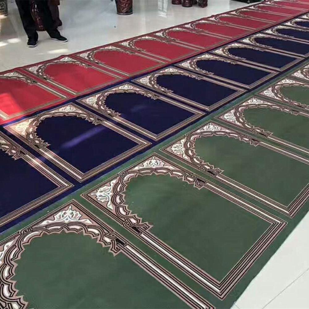 Muslim wall to wall prayer carpet roll mosque prayer carpet