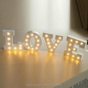 ALPHABET LETTER LIGHTS LED LIGHT UP WHITE WOODEN LETTERS STANDING / HANGING & Alphabet Letter Lights Led Light Up White Wooden Letters Standing ...