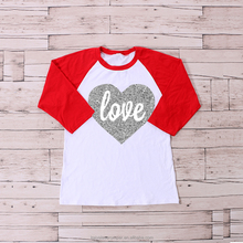 valentine's day children's clothing top fashion girl t shirt girl t shirts printed designs
