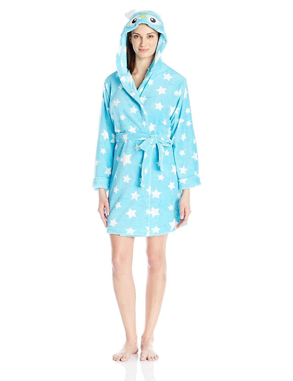 Get Quotations · Sleep   Co Women s Bird Plush Animal Robe With Hood 510a705c5