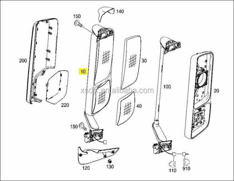 spare parts for mercedes benz actros body parts side. Black Bedroom Furniture Sets. Home Design Ideas