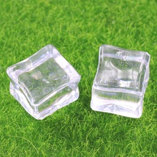 New Super Lovable Acrylic Clear Square Miniature 3D Ice Cubes Resin For Home Display Decoration