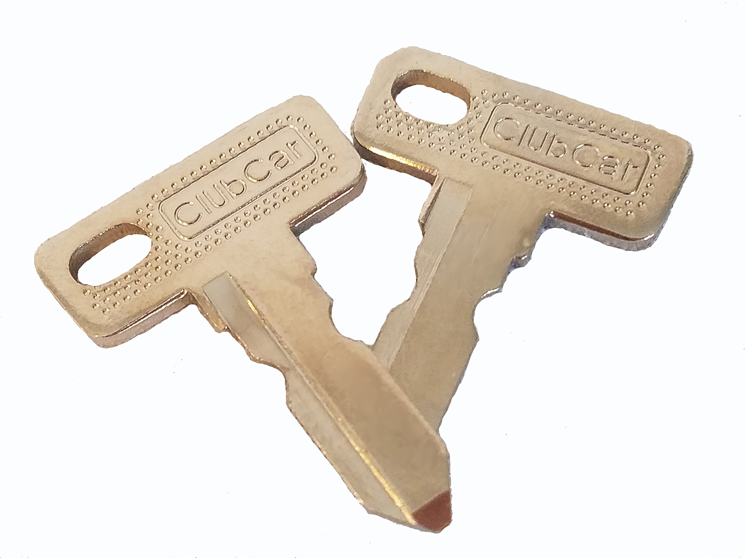 Club Car DS/Precedent-1982+ Gas/Electric Golf Cart Replacement Ignition Key x 2 DON'T BUY THE FAKES