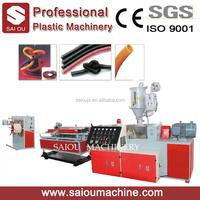 Plastic extruder machine plastic single wall corrugated pipe production line