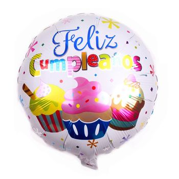 New Products Birthday Cake Spanish Happy Aluminum Helium Foil Balloon From Chinese Supplier