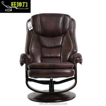 Amazing Pu Leather Wooden Base Adjustable Recliner Chair With Ottoman Buy Recliner Chair With Ottoman Adjustable Recliner Chair Wooden Chair Product On Ncnpc Chair Design For Home Ncnpcorg