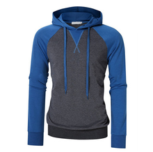 Byval Kontrast Farbe Mit Kapuze <span class=keywords><strong>Sweatshirt</strong></span> Zwei Ton Langarm Pullover Kordelzug Hoodie <span class=keywords><strong>Sweatshirt</strong></span> mit Gerippten Bündchen und Saum