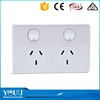 YOUU Unique Design 16A Max White 2 Gang 2 Way Switched And Socket Power Supply