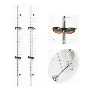 667b8b38c05a wall mounted lockable eyewear display rods sunglasses display bars  eyeglasses display stands