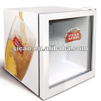 49litres Glass Door Cooler Fridge Hotel Mini Bar Fridge For Energy