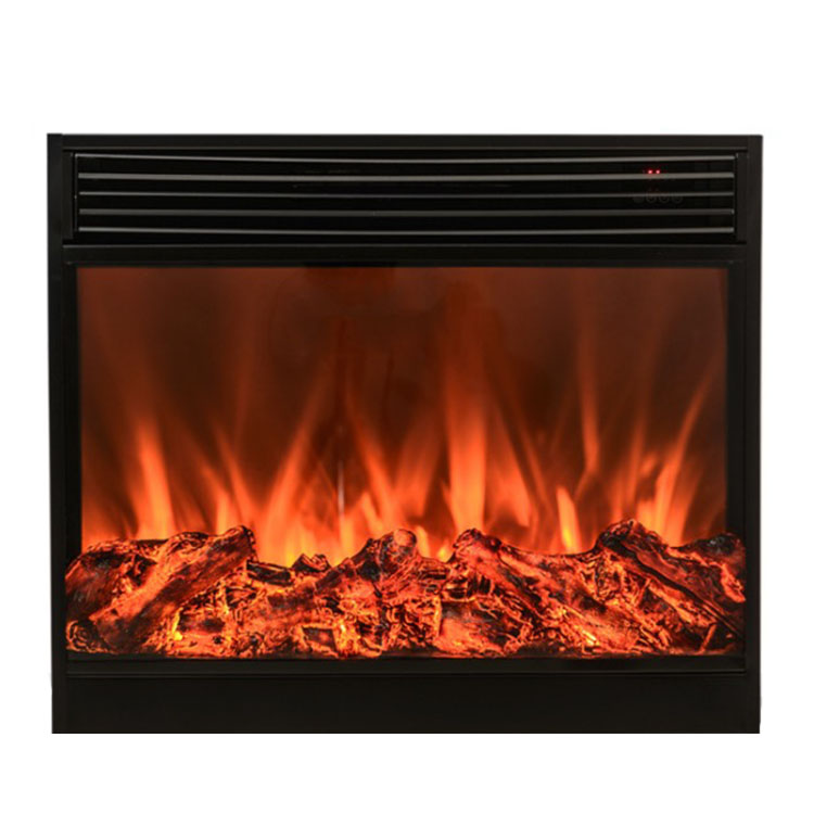 Electric Fireplace Insert With Remote Control Glass View Log Flame
