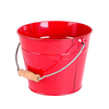 Red Galvanized metal buckets with handle