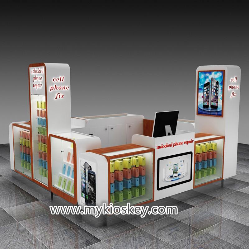 cellular phone display kiosk