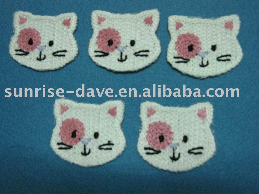 Crochet Cat Head Buy Cat Headanimal Patchapplique Product On