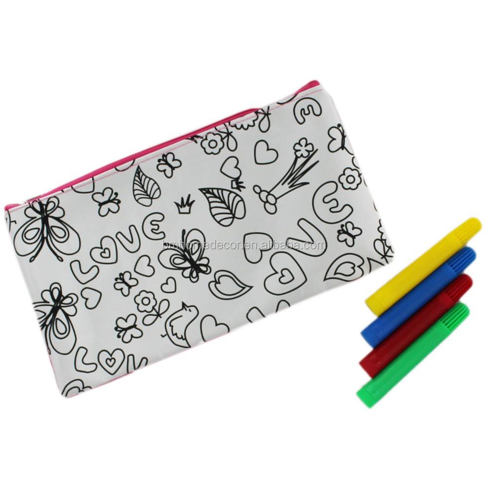 design your own gift diy pencil bag colour your own pencil case