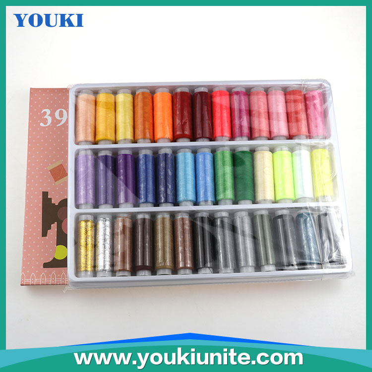 2019 New Colorful 39 Pcs/Set Sewing Thread polyester Thread/Wholesale colorful sewing thread set