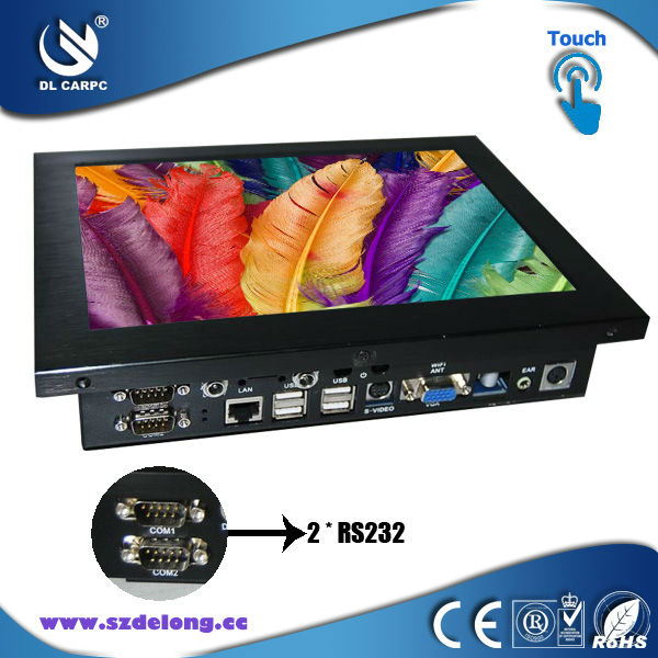 New Arrival 10.4 Inch LCD Touch All In One Fanless Industrial PCS